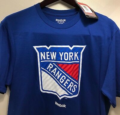 167fce1c2 NWT Reebok New York Rangers Men s T-Shirt NHL Hockey Tee Shirt Blue Size  Medium