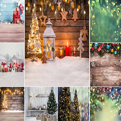 Christmas Vinyl Photography Backdrops Wooden Backdrop Photo Background For Xmas
