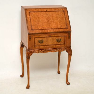 Small Antique Burr Maple Writing Bureau