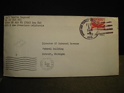 APO 9  RAMSTEIN AB, GERMANY or KOREA 1958 Army Cover 10th US ASA FS (Fld)