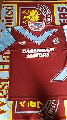 West Ham United Jersey Trikot! '93 -'95 Pony Dagenham Motors