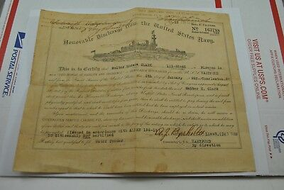 Rare Ww1 Us Navy Honorable Discharge Paper Uss Hartford 1919