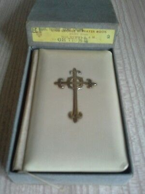 Boxed king george vi prayer book superb sterling silver cross fully hallmarked