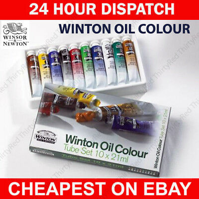 Winsor & Newton Winton Oil 10 x 21ml Artists Paint Tube Box Set