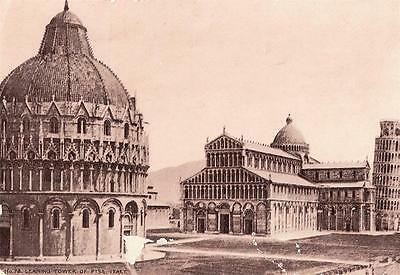 Sample Hood's Photos Of The World Leaning Tower Of Pisa Victorian Trade Card