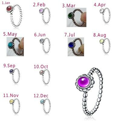 1PC Woman's Rings Colorful Stones Engagement Silver Plated Jewelry Wedding Gift