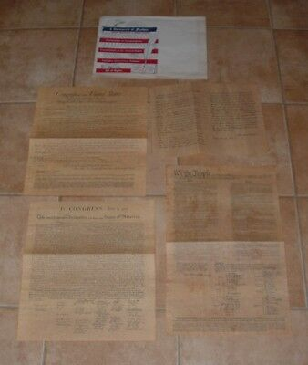 4 Documents of Freedom  Parchment Reproductions BONUS: Lincoln Selected Writings