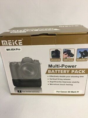 Meike MK-5D4 PRO Battery Pack W/ Grip for Canon 5D Mark IV. Unused