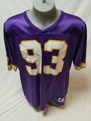 4fe8d445 VTG 90S MINNESOTA VIKINGS purple t shirt JOHN RANDLE men's L 1998 ...