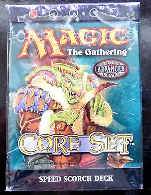Magic The Gathering 8th Edition Core Set speed scorch Deck version anglaise bleu