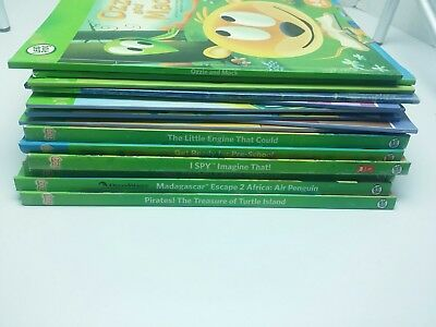 Leap Frog Tag Reader 17 BOOK LOT NO PEN Phonics Madagascar Monsters University..