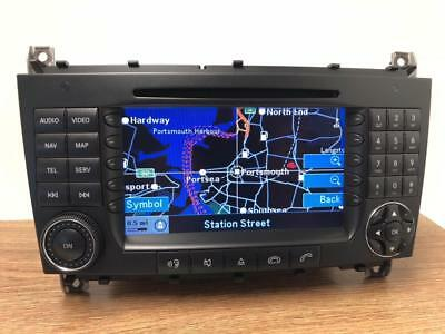 MERCEDES BENZ COMAND NTG2 C Class W203 SAT NAV CD FM Stereo Player BE6096