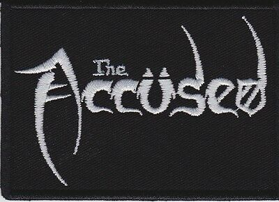 "Accused / The Accüsed -  Embr Patch 3½ x 2½"" (Black w/ White Ltrs) Thrash Punk"