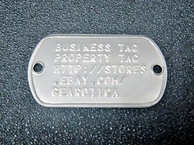 2-Hole U.s. Military Dog Tags Embossed With Your Text Information