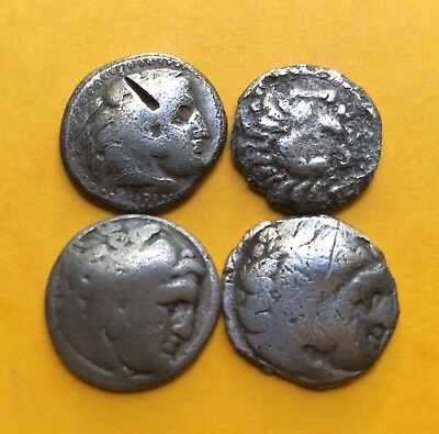 Alexander III The Great 4x ancient silver coins lot