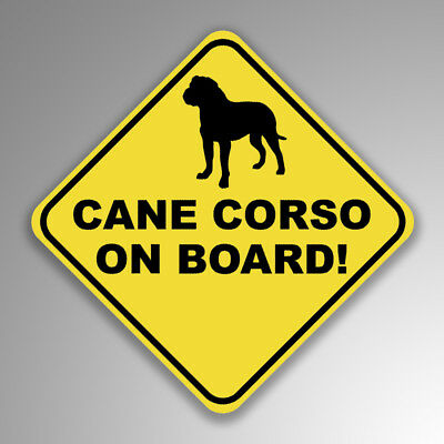 Cane Corso On Board Decal Sticker Dog Mom Dad Animal Lover