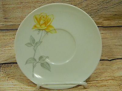 Vintage Texas-Ware Melmac Melamine Yellow Rose W/Gray Stem Saucer Only #E-5