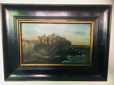 Antique Original, Irish 19th Century oil painting, Dunluce Castle - signed