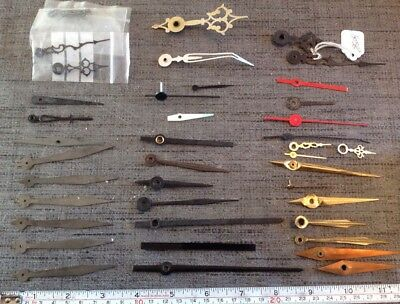 Antique And Vintage Clock Hands Collection Of 42 Assorted Pairs And Singles