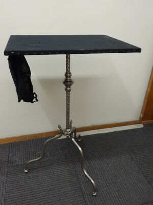 Antique Original Magician Table For Tricks Circus 1900 Nickel Plated