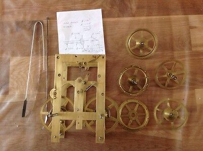 Antique Clock Parts Look Newly Cleaned Clockmakers Project Or Spare Parts