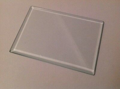 Bevelled Carriage Clock Glass Bevelled Rectangle  84mm 59mm