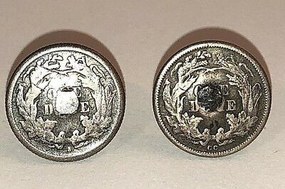 Pair Seated Liberty Dime Cuff links 1876 CC Carson City San Francisco C6
