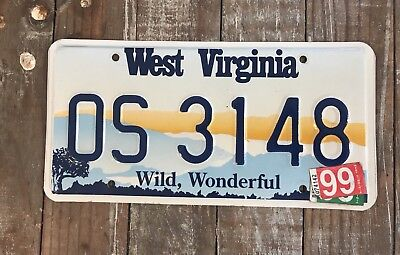 1997 West Virginia Scenic License Plate Very Nice