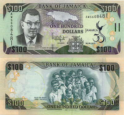 Jamaica 100 Dollars (2012) - 50th Anniversary of Independence/p90 UNC