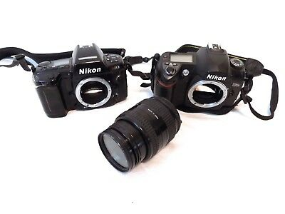 Bundle Lot Nikon Nikkor Vtg Camera D70s Digital N90s 28-70mm Lens 1:3.5-4.5 D
