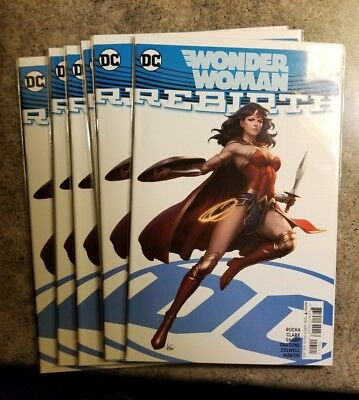 Wonder Woman Rebirth #1 Variant Stanley Artgerm Lau Cover. Sold Out. NM DC