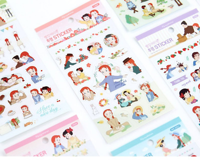 Anne of Green Gables stickers(6 sheet)