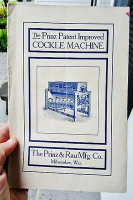 1907 Prinz & Rau Milwaukee WI: Antique Agriculture Wheat Milling COCKLE MACHINE