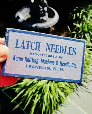 1944-1963 ACME KNITTING MACHINE & NEEDLE CO, Franklin, NH: Vintage Screw Rivets