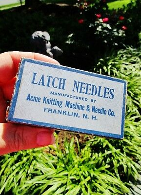 1944-1963 ACME KNITTING MACHINE & NEEDLE CO, Franklin, NH: Vintage Long Butts