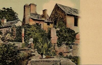 Antique c1910 Postcard, OLD HOUSE AT ST. GEORGES, BERMUDA, Wm. Weiss Photo