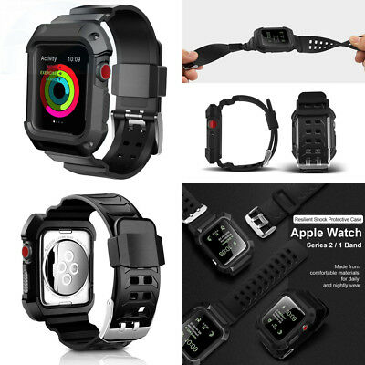 For Apple Watch Band, UMTELE Rugged Protective Case with Bands for Series...