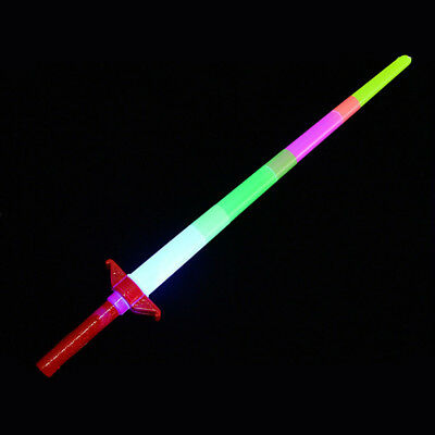 Retractable LED Glow Flashing Light Up Stick Wand Concert Party Favor Toy Health