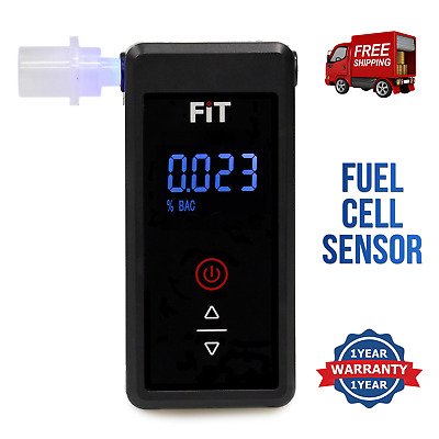 Breathalyser. Fuel Cell Alcohol Sensor. Latest 2018 UK Model. USB Rechargeable