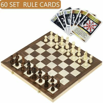 15 Inch Wooden Chess Set Pieces wood International Chess Set Chess Toys Gift AU