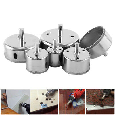 6X 30-80mm Diamond Hole Saw Holes Saw Drill Bit Cutter Tile Glass Marble Ceramic