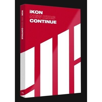 iKON[New Kids Continue]Album Red Ver CD+Poster+Book+Card+Post+Gift+Tracking Kpop