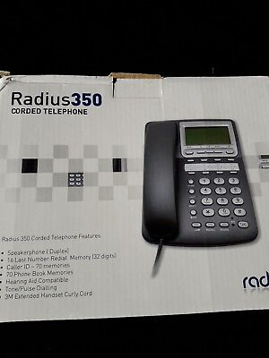 Radius 350 Business Phone telephone Corded   Silver Grey Ref 47967 R5 - New