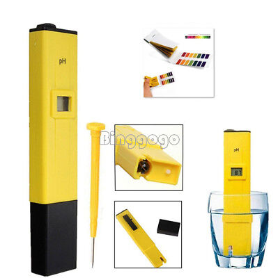 Pocket Digital PH Meter Water Tester Pen LCD Monitor Pool Aquarium Laboratory NE
