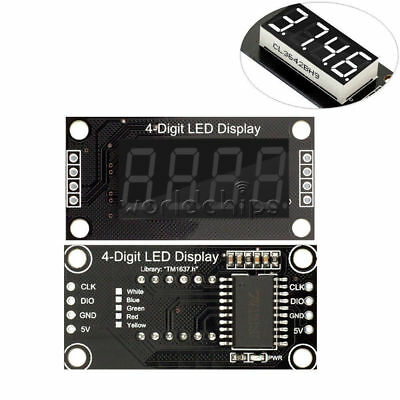 "White 0.36"" TM1637 7-Segment 4-digit Digital Tube LED Display Module For Arduino"