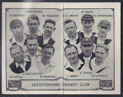 Barratt-Cricket Team Folders 1933-#12- Leicestershire