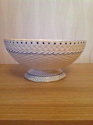 MINTONS CHINA 'Orion' Antique Basket Weave Fruit Bowl, VGC