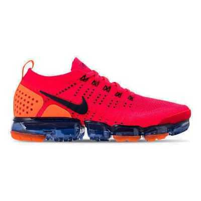 00e4d9862dfb Men s Nike Air VaporMax Flyknit 2 Red Orbit Obsidian Total Orange AR5406 600