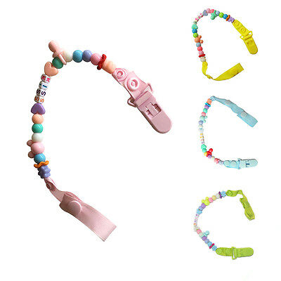 2X Toddler Baby Hand Made Dummy Pacifier Clip Chain Holder Soother Nipple Strap