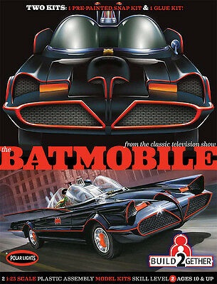 Polar Lights 907 Batman 1966 TV Series Batmobile 2 Kit Set (Snap and Glue) 1/25